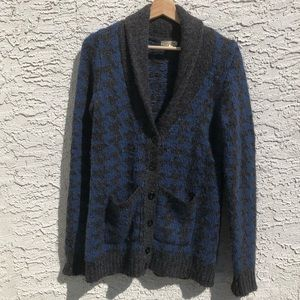 Silence and Noise houndstooth cardigan